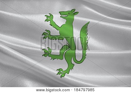 Flag of Belley is a commune in the Ain department in eastern France. 3D illustration