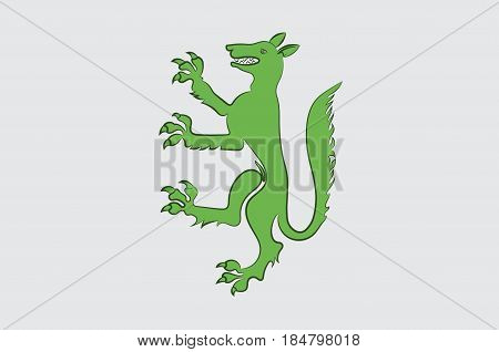 Flag of Belley is a commune in the Ain department in eastern France. Vector illustration