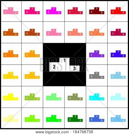 Sofa sign illustration. Flat style icon. Vector. Felt-pen 33 colorful icons at white and black backgrounds. Colorfull.