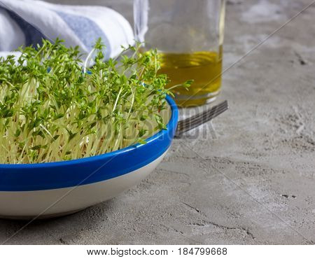 Watercress Salad In A Plate