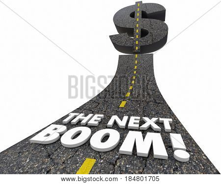 The Next Boom Big Huge Jackpot Market Opportunity Road 3d Illustration