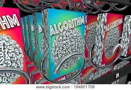Algorithm Vending Machine Buy Math Problem Solution 3d Illustration