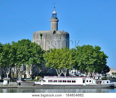 medieval Tour de Constance in Aigues Mortes,Camargue,France