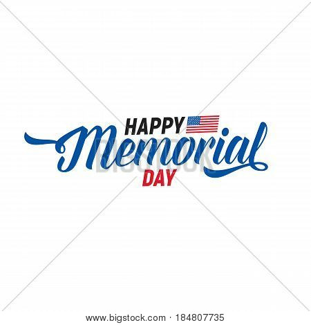 Memorial Day. Typography design layout for USA Memotial Day events, sales, promotion etc.