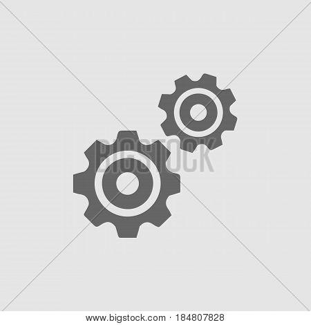 Gear vector icon eps 10. Cogs symbol.