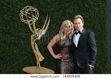 PASADENA - APR 28: Sainty Nelsen, Eric Nelsen at the 44th Daytime Creative Arts Emmy Awards Gala at the Pasadena Civic Centerl on April 28, 2017 in Pasadena, California