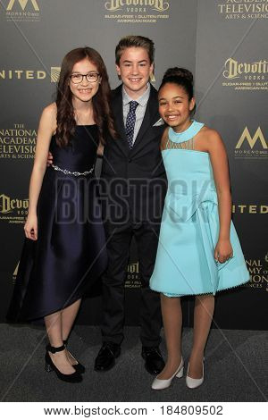PASADENA - APR 28: Anna Cathcart, Isaac Kragten, Millie Davis at the 44th Daytime Creative Arts Emmy Awards Gala at the Pasadena Civic Center on April 28, 2017 in Pasadena, CA
