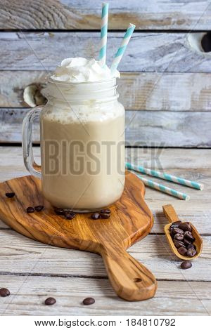 Greek Coffee Frappe With Milk
