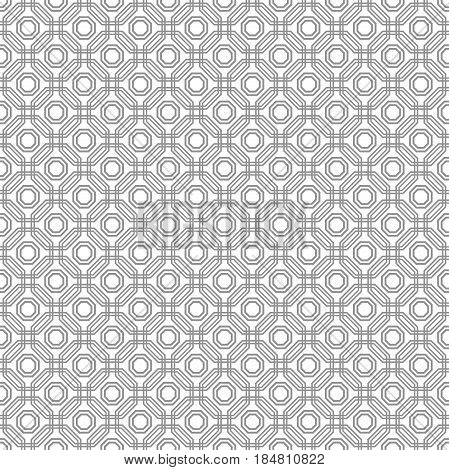 Geometric abstract vector octagonal silver background. Geometric abstract ornament. Seamless modern pattern