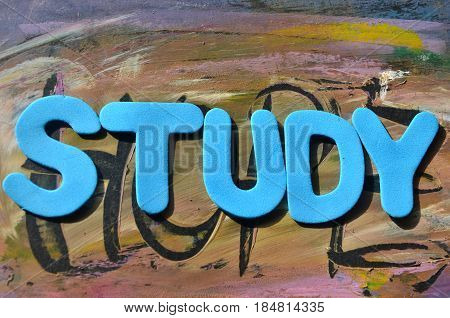 word study on a  abstract colo0rful background