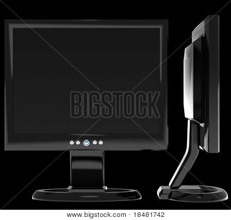 Side view of flat screen lcd