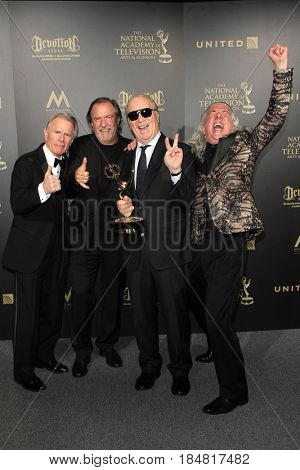 PASADENA - APR 28: Stephen Reinhardt, D Brent Nelson, Ken Corday, Paul Antonelli at the 44th Daytime Creative Arts Emmy Awards Gala at the Pasadena Civic Center on April 28, 2017 in Pasadena, CA