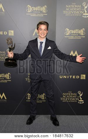 PASADENA - APR 28: Isaac Kragten at the 44th Daytime Creative Arts Emmy Awards Gala at the Pasadena Civic Center on April 28, 2017 in Pasadena, CA