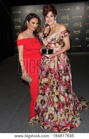 PASADENA - APR 28: Lilly Melgar, Carolyn Hennesy at the 44th Daytime Creative Arts Emmy Awards Gala at the Pasadena Civic Center on April 28, 2017 in Pasadena, CA