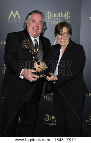 PASADENA - APR 28: Kelly Waldman, Marisa Davis, Outstanding Lighting Direction, The Talk at the 44th Daytime Creative Arts Emmy Awards Gala,  Pasadena Civic Center on April 28, 2017 in Pasadena, CA