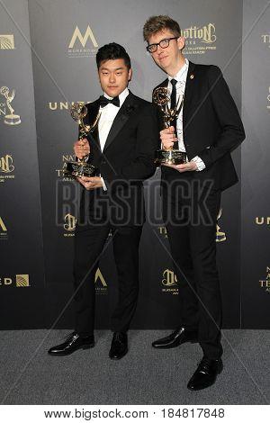 PASADENA - APR 28: Eastwood Wong, Kevin Dart at the 44th Daytime Creative Arts Emmy Awards Gala at the Pasadena Civic Center on April 28, 2017 in Pasadena, CA