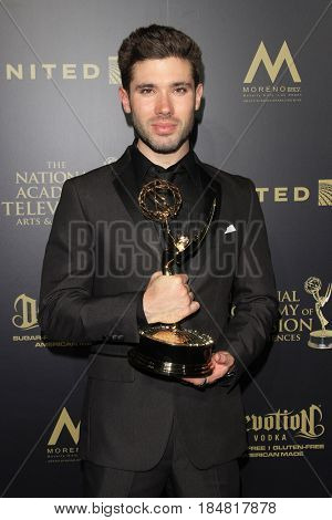 PASADENA - APR 28: Kristos Andrews at the 44th Daytime Creative Arts Emmy Awards Gala at the Pasadena Civic Center on April 28, 2017 in Pasadena, CA