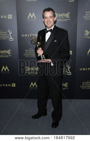 PASADENA - APR 28: Steve Schnall, Outstanding Technical Team, CBS Sunday Morning at the 44th Daytime Creative Arts Emmy Awards Gala at the Pasadena Civic Center on April 28, 2017 in Pasadena, CA