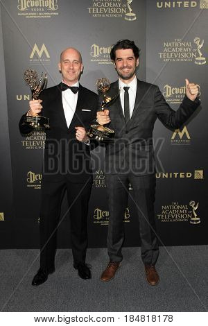 PASADENA - APR 28: Mike Chaffe, Victor Maldonado at the 44th Daytime Creative Arts Emmy Awards Gala at the Pasadena Civic Center on April 28, 2017 in Pasadena, CA