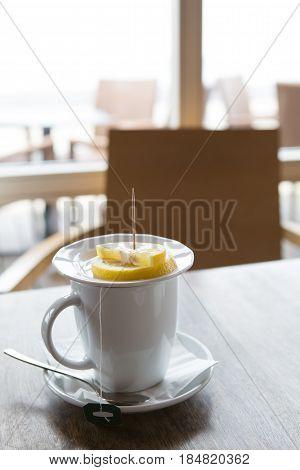Mug Of Tea With Lemon