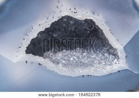 Geode blue colorful color gemstone gem jewel mineral precious