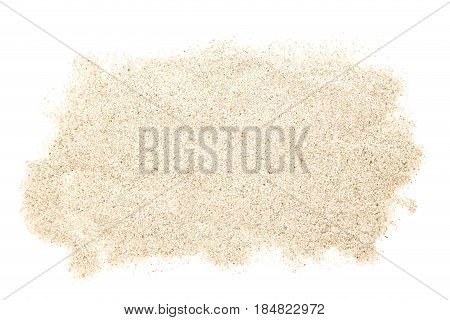 A sand heap isolated on white background