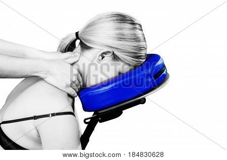 Doctor, Physiotherapist Examining Her Patient Back And Doing Decontracting Massage In Silhouette Stu
