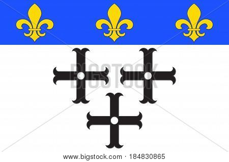 Flag of Moulins is a commune in central France capital of the Allier department