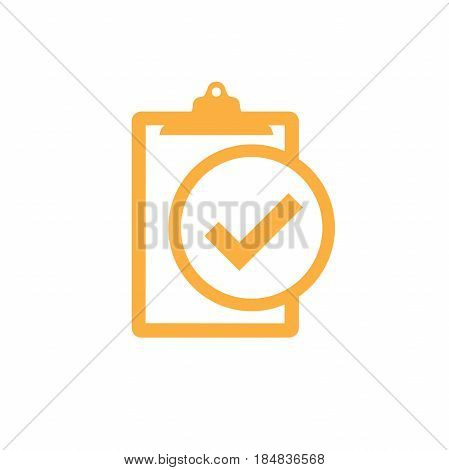 Yellow Singletasking or Monotasking icon with checkmark