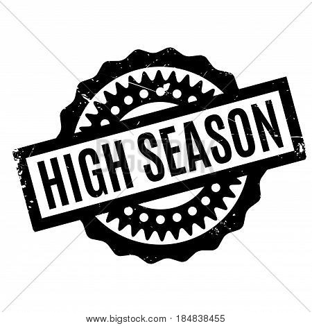 High Season rubber stamp. Grunge design with dust scratches. Effects can be easily removed for a clean, crisp look. Color is easily changed.