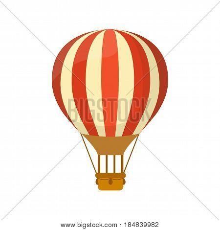 Flat air balloon. Travel and explore. Flat vector hot air baloon illustration.