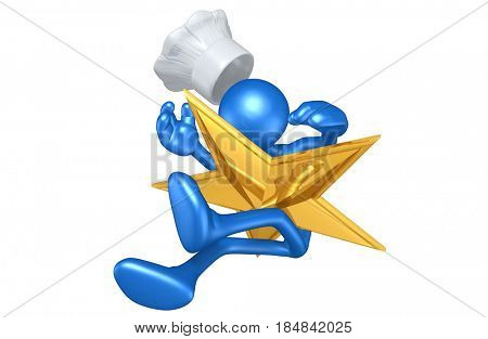 Chef Struck By A Star The Original 3D Character Illustration