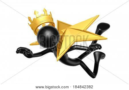 King Hit By A Star The Original 3D Character Illustration