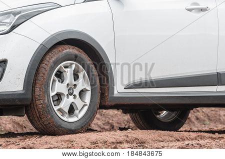 Hb20 X Car On A Dirt Road Of A Farm