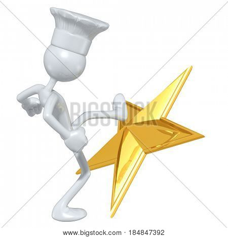 Chef Kicking A Star The Original 3D Character Illustration