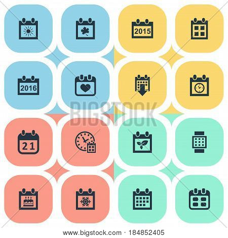 Vector Illustration Set Of Simple Time Icons. Elements Event, Special Day, Summer Calendar And Other Synonyms Sun, Day And Time.
