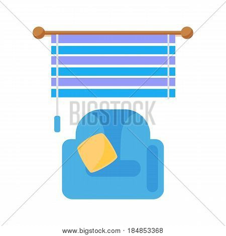 House windows jalousie element isolated flat style frame domestic double construction and contemporary decoration apartment vector illustration. Architectural design.