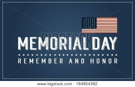 Happy memorial day vector art collection stock banner