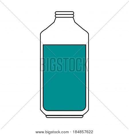 sketch color silhouette glass bottle with olive oil vector illustration