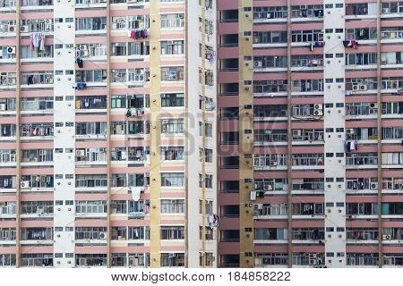 hong kong public estate at day