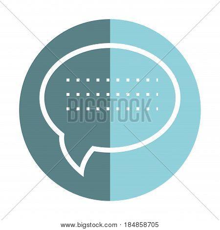 sticker chat bubble communication message, vector illustration