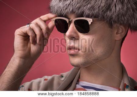 Fashion, Sunglasses Head Face Closeup