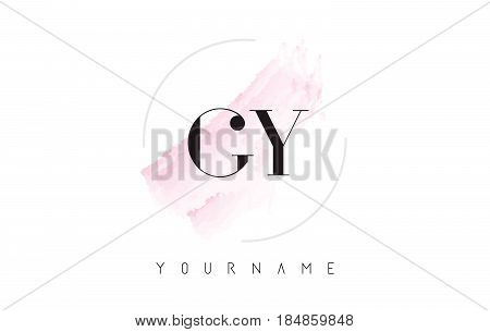 Gy G Y Watercolor Letter Logo Design With Circular Brush Pattern.