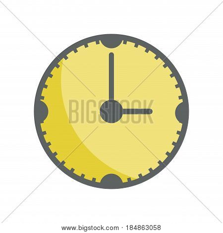 yellow clock to know the time of day, vector illustrations