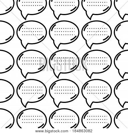 figure chat bubble communication message background, vector illustration