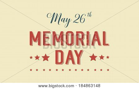 Memorial day theme background style vector illustration
