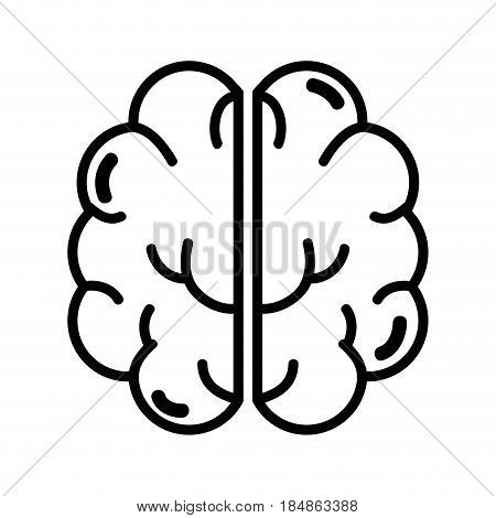 figure creative brain and mental healthy, vector illustration