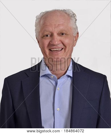 Healthy and happy senior man smiling portrait.