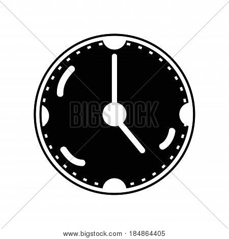 contour clock to know the time of day, vector illustrations