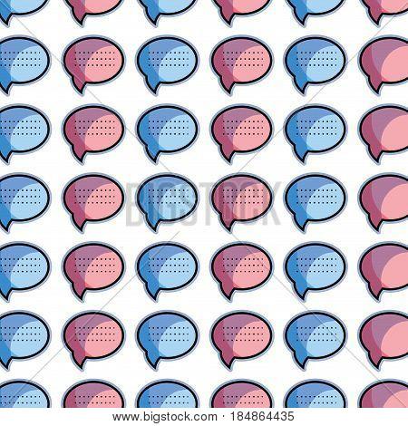 color chat bubble communication message background, vector illustration